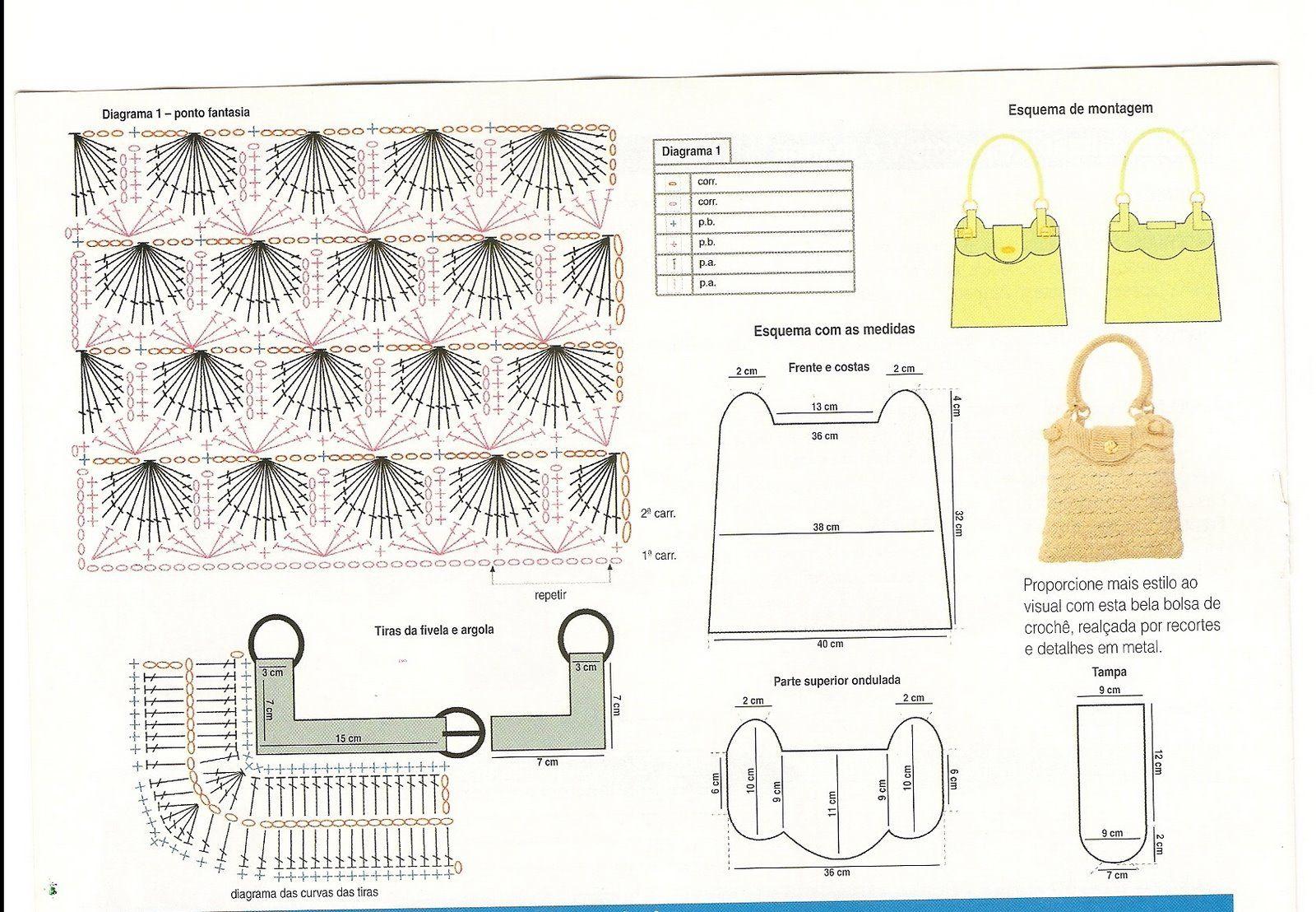 Вязаные сумки модели и схемы
