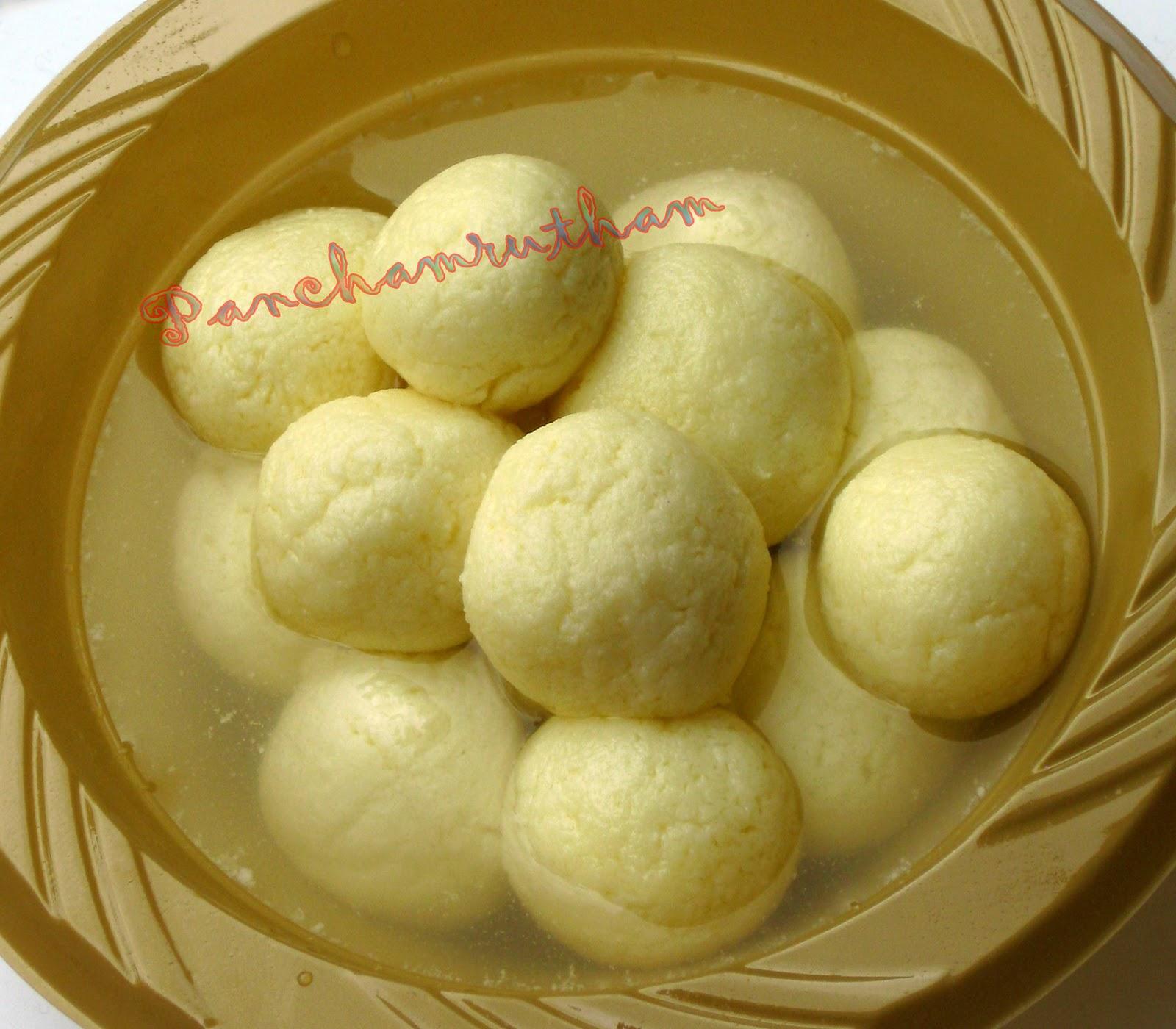 Recipes Panchamrutham Rasgulla