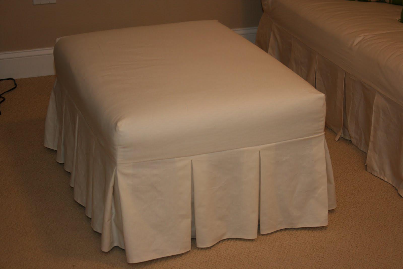 How To Make An Ottoman Slipcover My Dish Towel
