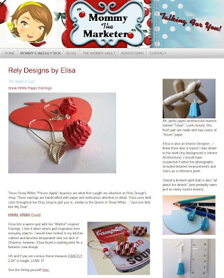 relydesign, paper, jewelry, jewellery, folded, mommy the marketer