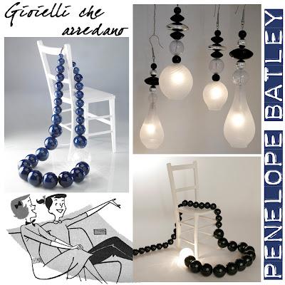 Penelope Batley, interior design, arredamento, giant jewelry,