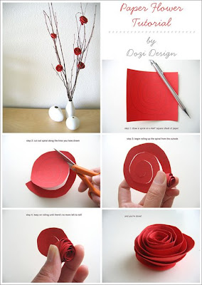 tutorial, paper, flower, dozi design, carta