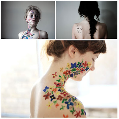 flickr, photographer, body paint, flower