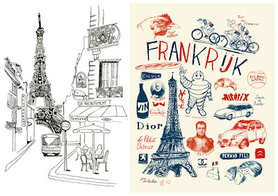 france illustration, paris, wander about, girovagando,