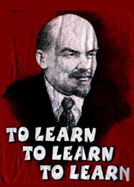 Image result for lenin to learn to learn to learn