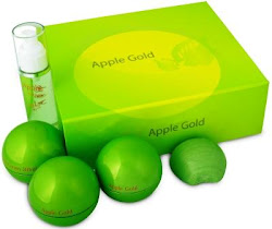 SET  APPLE GOLD 5 IN 1