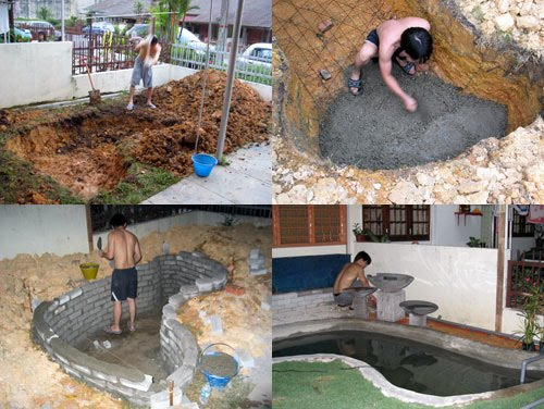 Miau wantz her fillet making your own simple pond for Garden pond design and construction