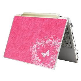 Pink Skin Sticker Laptop Notebook Butterfly