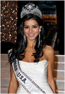 Rima Fakih Wearing Miss USA's Crown