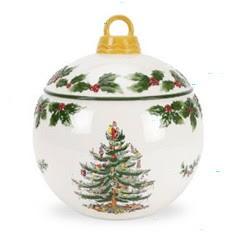 Spode Christmas Tree Bauble Cookie Jar
