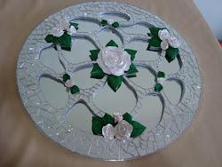 Reflexo das rosas por Lenita Abreu