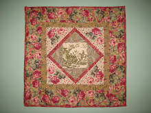 Broderie Perse Quilt, doll size