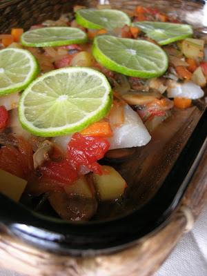 Oven Baked Fish Pilaki (Fırında Balık Pilâki)