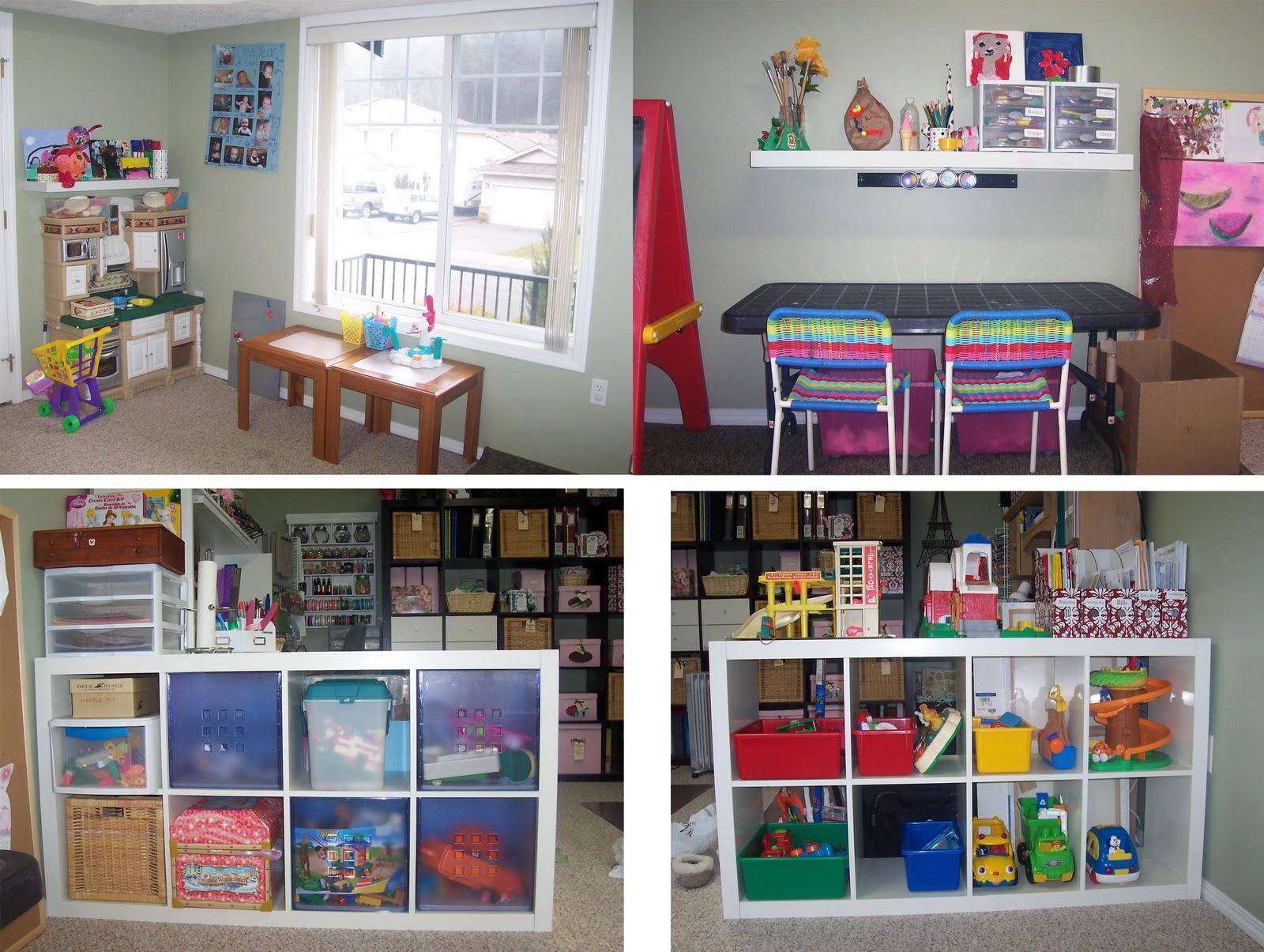 Ellabella designs creative scrapbook craft space for Playroom kitchen ideas
