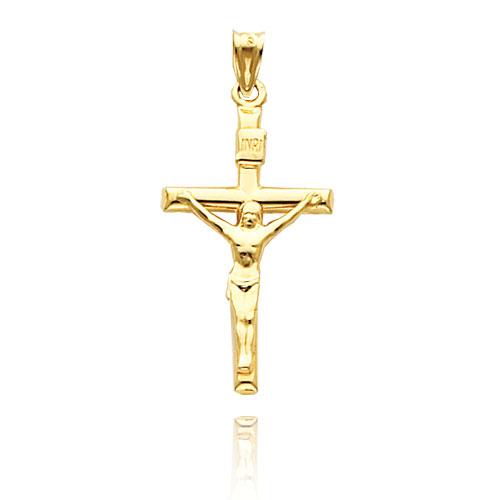 Gold INRI Crucifix