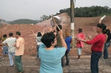 Moradores da Favela Pintassilgo protestam contra o Rodoanel em Santo André