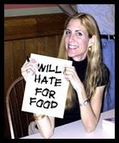 will hate for food ann coulter