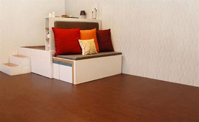 all in one furniture. Ukuran Keseluruhan Dari 1 Set Furnitur Ini Adalah 1,2 Meter Tetapi Dengan Sistim Sedikit \ All In One Furniture