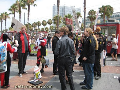 Groups Across the Street from San Diego Convention Center - Photo by San Diego video producer Patty Mooney of Crystal Pyramid Productions