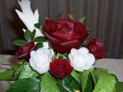 rose di rape rosse e daikon