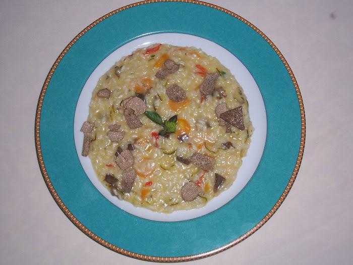 risotto con ratatuille di verdure e tartufo estivo di Quadri