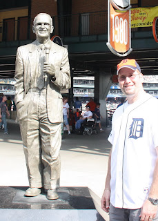 Ernie Harwell Statue at Comerica Park