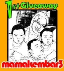 Mama kembar 3 first Giveaway, yeay!