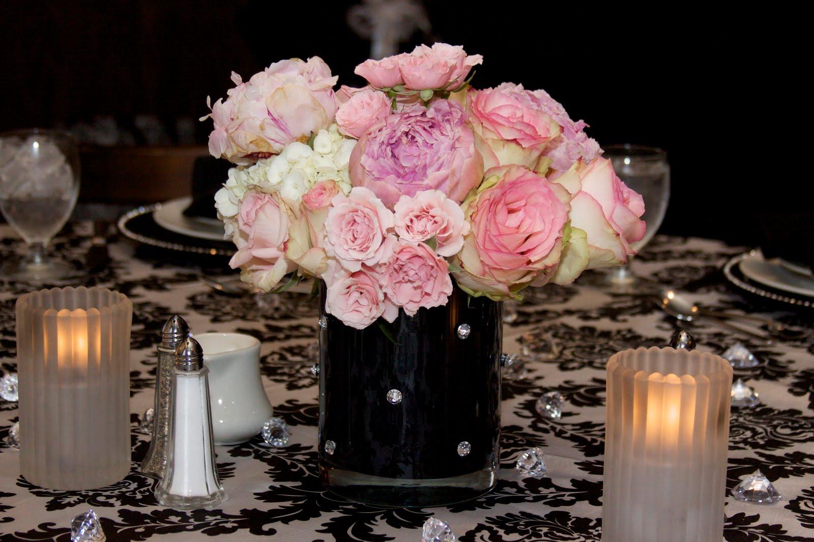 A Black White Blush Pink Bridal Shower