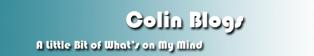 Colin Blogs