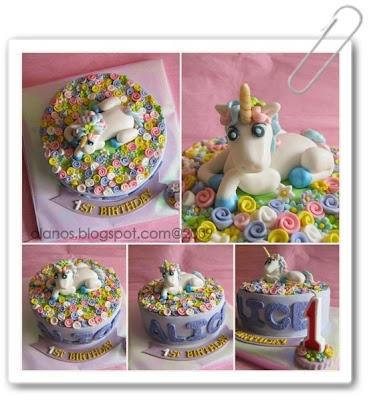 Unicorn Batman Cake