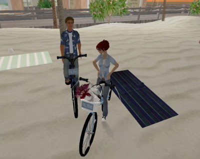ida and Theo on bikes