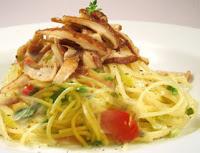 Espaguete com Shitake