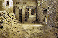 A street in the Bronze Age town of Akrotiri