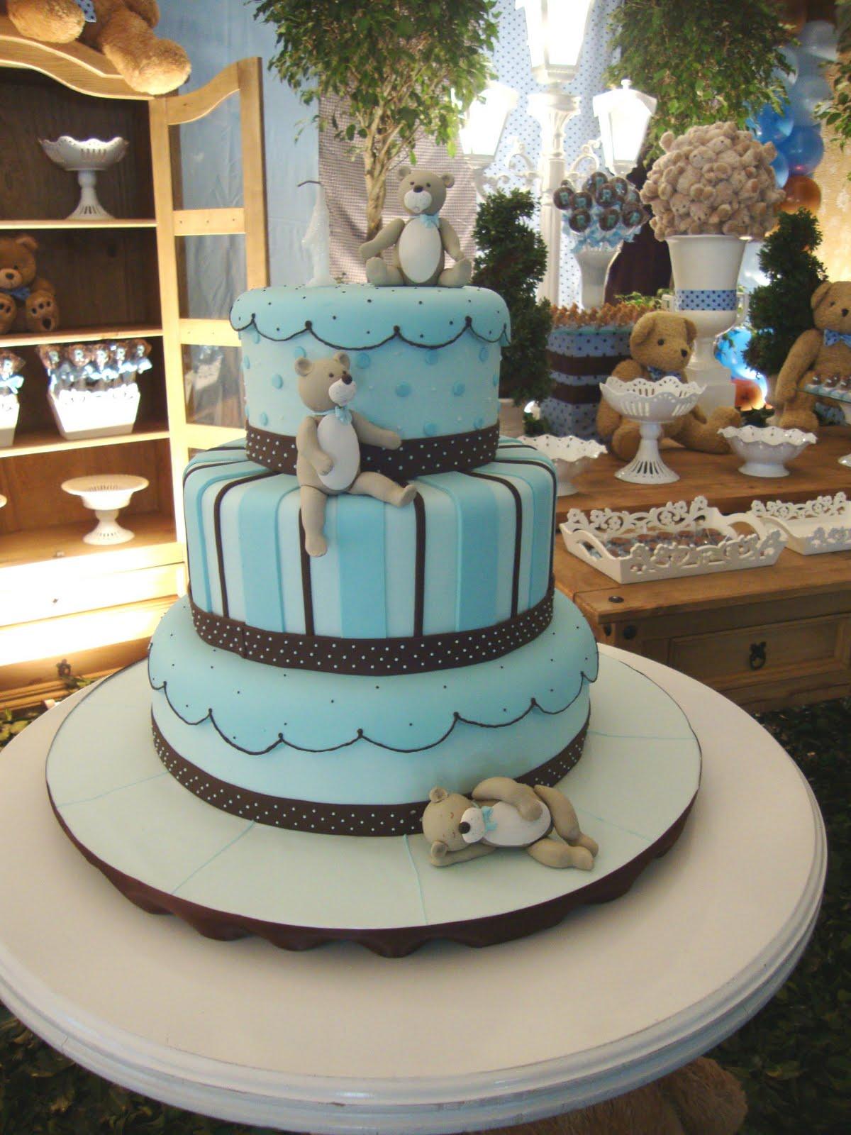 decoracao festa urso azul e marrom:HAPPY FEST: URSOS EM MARROM E AZUL – BEARS BLUE & BROWN