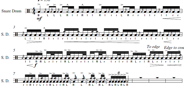 how to read drumline music