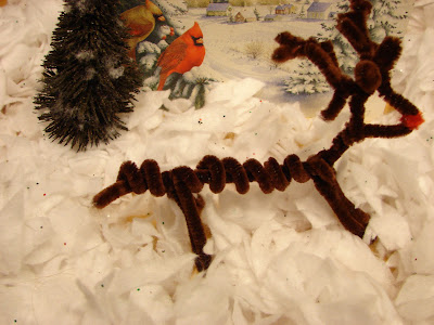 Pipe Cleaner Reindeer Craft