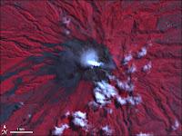 Foto, Letusan, Gunung, Merapi, Bidikan, NASA, Letusan Gunung, Gunung Merapi