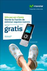 Gunnel's Zuecos en la campaña publicitaria de Movistar