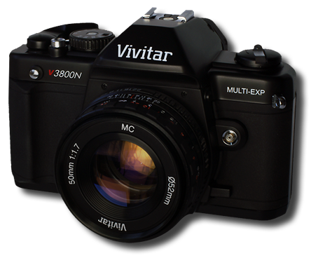 Vivitar V3800N 35mm SLR Camera w/ 28-70mm Lens
