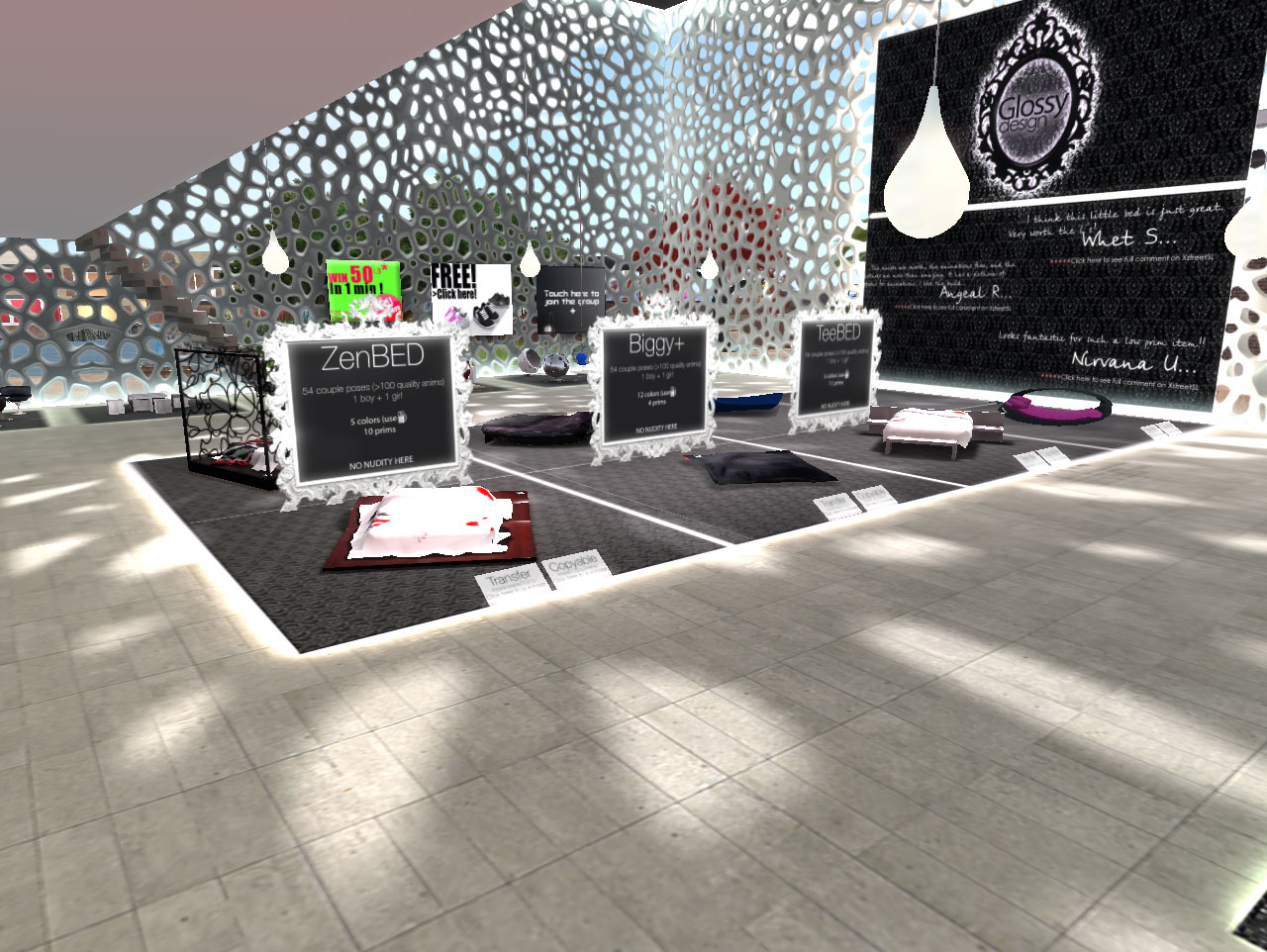 design furniture warehouse on Glossy Design   Second Life Furniture Store