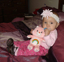 kynlee eats the tags on her toys!