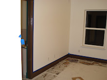 our room after we painted it, it's brown trim