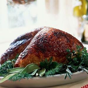 Mahogany Turkey Breast with Vegetable Gravy