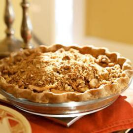 Oatmeal Nut Crunch Apple Pie