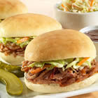 Barbecue Pulled Pork or Chicken Mini Sliders