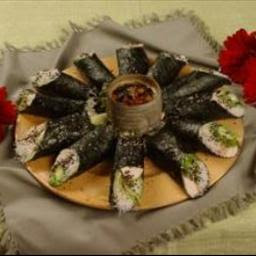 Chicken Nori Salad Rolls Recipe