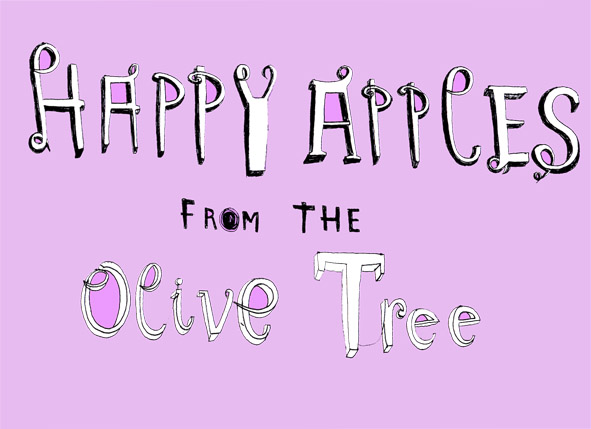 Happy Apples from the Olive Tree