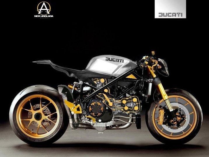 Ducati 1098 project cafe fighter rocketgarage cafe for Costo per costruire garage per 2 auto in allegato