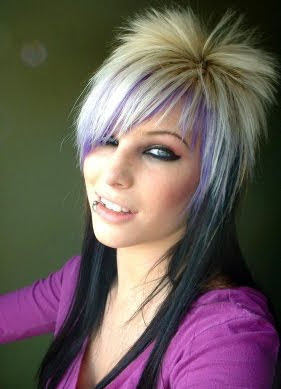 Cool Purple Blonde Black Emo
