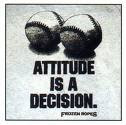 picture that says Attitude is a Decision
